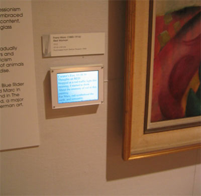 Example of a wall mounted Live!Label